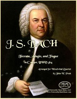 Bach - Toccata, Adagio, and Fugue - Wind Quartet
