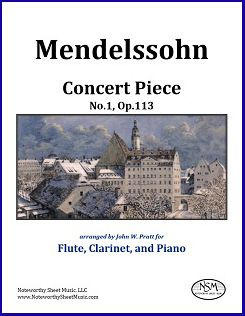 Mendelssohn - Concert Piece No 1 - Two Winds and Piano