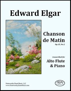 elgar chanson-de-matin afl-and-pf nsm